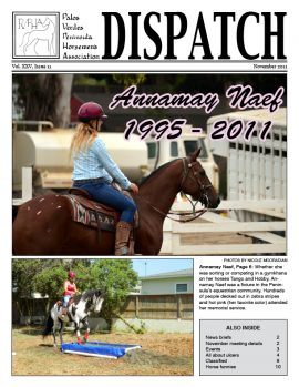 PVPHA Dispatch front page - November 2011