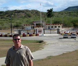 Officer Chris Sosenko at Guantanamo Bay. Photo courtesy Chris Sosenko.
