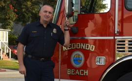 Brad Sweatt of the Redondo Beach Fire Department. Photo credit Nicole Mooradian / Redondo Beach Patch.