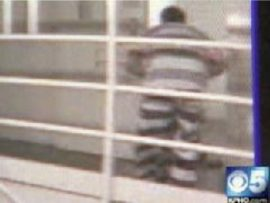 Screenshot from surveillance video of a Maricopa County Sheriff's Office jail inmate beating another to death.