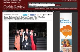 Screenshot of Redondo Union High School prom photo that appeared on the Osakis Review.