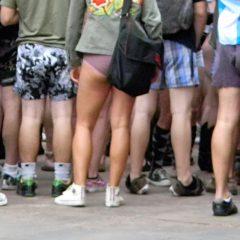 No Pants Day 2010 in Phoenix. Photo credit Nicole Mooradian / KPHO.