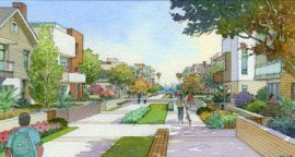 Rendering of proposed Harbor Village. Courtesy AES Southland.